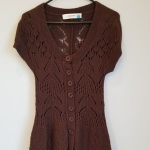 Chocolate sweater dress by Sparrow (Anthropologie)